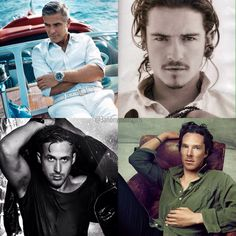 We went with the Hollywood classic for this #Mancrushmonday  #benedictcumberbatch #gosling #clooney #orlandobloom