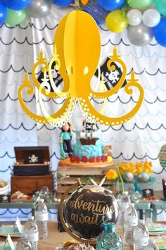 Octopus, pirates, and treasure. What more do you need for a pirate or an under the sea party!?