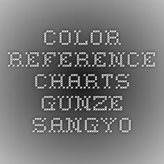 Color Reference Charts - Gunze Sangyo