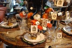 Fall table scape - Nell Hill's Blog