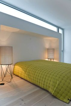 Lamps from gubi - bed cover from Hay - floors from dinesen