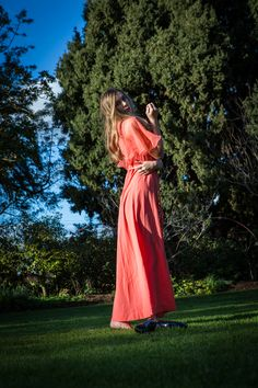 Hope Louise by Peter Berzanskis Wuthering Heights, Grass, Editorial, Backless, Gown, Photoshoot, Hands, Orange, Formal Dresses