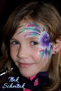 Face painting by Tink Schmink flower