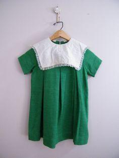 Vintage 1960s Girls Dress / Green / Tent by ThriftyVintageKitten, $15.00