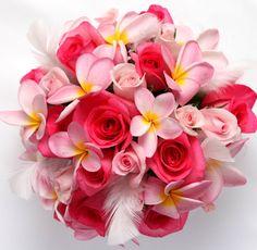 濃いピンク バラ プルメリア ヘア - Google 検索