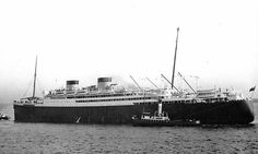 MV Britannic, the first British Liner to be powered by diesel engines. Built for White Star by Harland & Wolff, Belfast, her maiden voyage took place on 28/06/30. 26,943Grt, 712ft Long, 82ft Beam. Initial cabin space was for 1500 passengers split fairly evenly across all 3 classes. White star was taken over by Cunard in '34 and she sailed under the Cunard Whirte Star Line until'50 then Cunard Line until scrapping in '60. Served as a troopship during WW II returning to commercial service in…