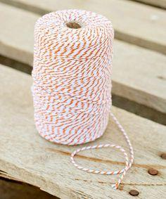 Another great find on #zulily! Orange & White Stripe Twine #zulilyfinds
