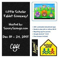 Enter to #win the School Zone Little Scholar Tablet #Giveaway, Ends 12/24 - Davids DIY