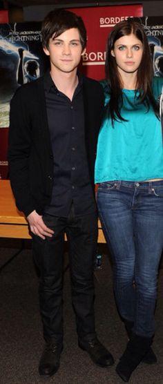 Alexandra Daddario and Logan Lerman Percy Jackson Cast, Cute Celebrities, Celebs, Logan Lerman, Gorgeous Eyes, Beautiful, Alexandra Daddario, The Fault In Our Stars, Percabeth