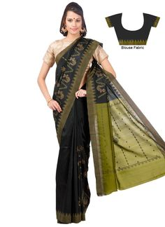 Black N Green Kasuti Saree
