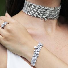 Stenzhorn's diamond choker, bracelet and ring from the Cowherd and the Weaver Girl jewellery collection. http://www.thejewelleryeditor.com/jewellery/article/stenzhorn-high-jewellery-myths-magic/ #jewelry