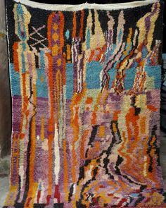 Moroccan boujaad rug 246 x 175 cm  8ft x 5ft9
