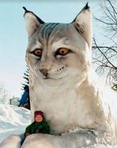 Lodjuret var 1998 års snöskulptur i stadsparken-this snow sculpture is incredible! What an amazing job Snow Sculptures, Sculpture Art, Winter Fun, Winter Snow, Ice Art, I Love Snow, Snow Art, Snow And Ice, Winter Wonderland