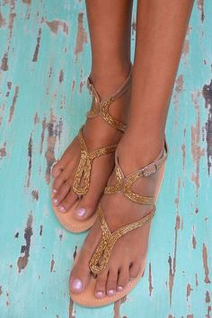 Hot Lava Slippers Nadya Hot Lava - Golden Beads