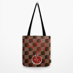 Pomegranate sweet explosion Tote Bag by Bozena Wojtaszek   Society6