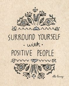 Positive People 8x10 Art Print by ellolovey on Etsy, $19.00