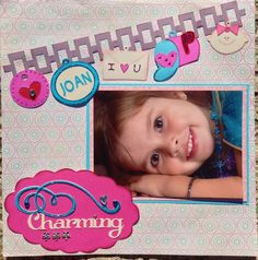 """Charming"" - Entered in a challenge to use ""charms"" from Cricut cartridges.  Added inked edges and Stickles."