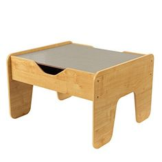 $55  KidKraft 2-in-1 Activity Table with Board, Gray/Natural