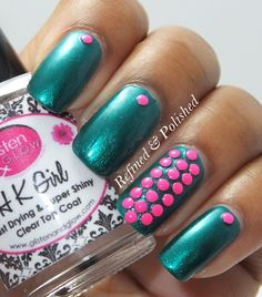 Refined & Polished » Pink Wednesday ~ BornPretty Neon Studs Nail Polish Designs, Nail Designs, Beauty Tips, Beauty Hacks, Make Me Up, How To Make, Colourful Hair, Nail Blog, Finger Painting