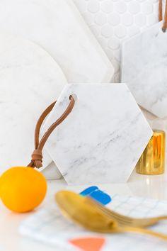 DIY Hanging Marble Serving Board for Under $5!