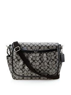 Coach Coated Canvas Messenger Baby Bag, Black at MYHABIT