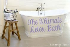 "DIY Detox Bath Recipe{DIY Detox Bath Recipe{This is a really great ""recipe"" I found for the ultimate detox bath. Use this guide to relax, flush toxins from your skin and overall just feel better! CLICK the link to the recipe below to see how to make your own ultimate detox bath..."