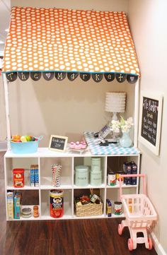DIY PVC Children's Grocery Store {Tutorial} | So You Think You're CraftySo You Think You're Crafty - idea for the baby room
