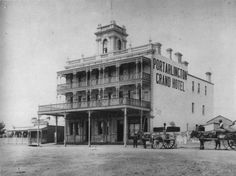 History of Geelong & District and the Bellarine Peninsula Melbourne Victoria, Victoria Australia, Australian Architecture, Grand Hotel, Historic Homes, Historical Photos, Old Photos, Past, Street View