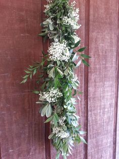 Nagi, Variegated Pitt, and Baby's Breath Garland – The Garland Guy Church Wedding Decorations, Garland Wedding, Wedding Centerpieces, Wedding Table, Our Wedding, Wedding Ideas, Green Wedding, Wedding Bouquets, Floral Centerpieces