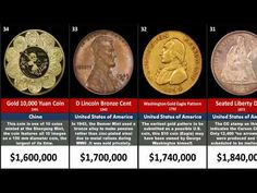 Many people expect older coins to have more value. For example, even though the United States is relatively young among nati. Valuable Pennies, Valuable Coins, Antique Coins, Old Coins, Most Expensive, Funny Clips, Old Antiques, Home Crafts, Mint