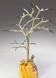 TrainScape: Árbol de alambre. Wire Art Sculpture, Slot Car Tracks, Model Trains, Glass Vase, Easy Diy, Flowers, Plants, Home Decor, Cake