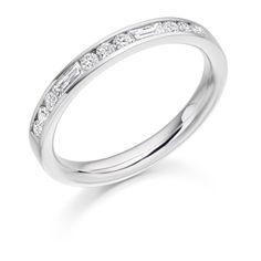 Baguette & Round Brilliant Cut Half Eternity Ring HET2485 - http://www.voltairediamonds.ie/product/wedding-eternity-rings/baguette-round-cut-eternity-ring-het2485/