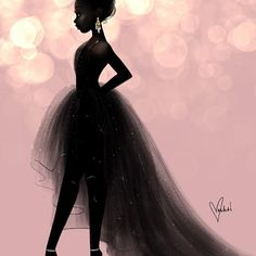 ARtist Vashti Harrison #blackbeauty #blackmagic #blackgirlmagic #illustration #procreateapp #ipadpro