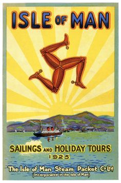 Die Isle of Man Steam Packet Co. Source by Manx, Isle Of Man, Vintage Travel Posters, Vintage Ads, Celtic Nations, Sailing Holidays, Railway Posters, World Pictures, Scottish Highlands