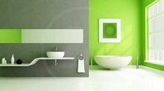 Краска для ванной комнаты: фото интерьера