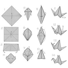 Origami flapping crane instructions step by step tutorial paper folding moblie birds paper crafts (22)