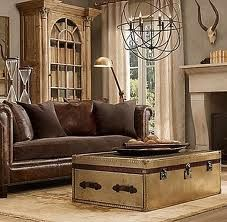 Steam punk style living room featuring a chesterfield