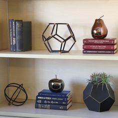 Shelf decor that's so stylish! item Ceramic pear in polished chrome copper finish; item Ceramic apple in chrome sage finish; Decor, Decorative Sculpture, Ceramic Apple, Decorative Pieces, Decorative Accessories, Accent Decor, Shelf Decor, Home Decor, Conversation Piece