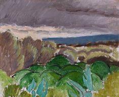 ALONGTIMEALONE: bofransson: Cagnes Paysage au Temps, Orageux, 1917...