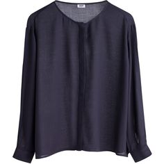 MTWTFSS Weekday PC Contra blouse Black ❤ liked on Polyvore