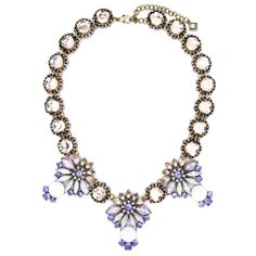 """RESTOCK!!  VENETIAN NECKLACE LOBSTER FINISHED SIZE: 16.5"""" + 2.5"""" EXTENSION MATERIAL: PLATED BASE METAL, ACRYLIC, CRYSTAL MIXED COLOR: ANTIQUE GOLD. LIGHT PURPLE MIXED"""