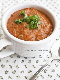 Tomato Basil Avocado Soup-a raw recipe–cool and creamy–tastes delicious and it's so healthy!