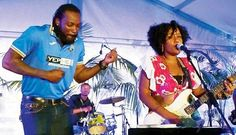 #AndreRussell and #ChrisGayle entertained the crowd with some music and won hearts.