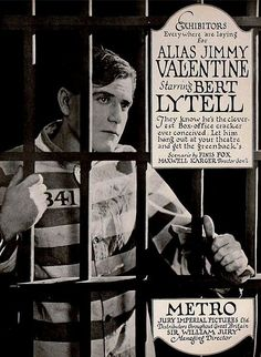 This version of Alias Jimmy Valentine was released in 1920.  The film starred Burt Lytell, Vola Vale and Eugene Pallette.  It is considered a lost film.