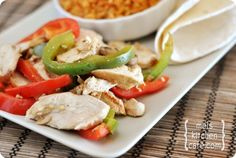 The Best Chicken Fajitas - Seriously love these!!!  The liquid smoke may seem like an unnecessary optional ingredient but I promise you it adds an irreplaceable flavor and smokiness.
