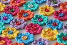 @ According to Matt...: Mini Hoop Flowers - free pattern