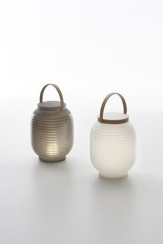 Created by Milan designer Raffaella Mangiarotti for Serralunga, the HONEY is a portable lantern modern lamp with outdoor rechargeable LED lighting system.
