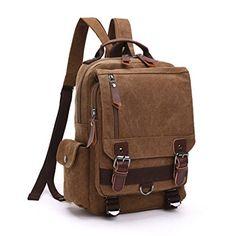 VeBrellen Borsa escursionismo Viaggi Travel Bag Uomini grande scuola vintage tela di canapa zaino multifunzione portatile Zaino