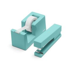 Poppin Aqua Dynamic Duo | Desk Accessories | Cool and Modern Office Supplies #workhappy