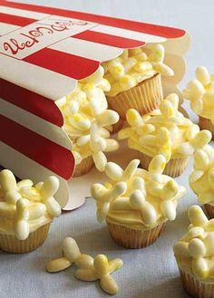 Movie Popcorn Cupcakes - Jelly Belly Candy Company
